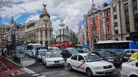 Madrid city center Stock Photo