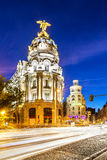Madrid city center, Gran Vis Spain Stock Photos