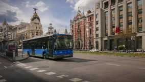 Madrid city center stock video footage
