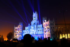 Madrid City Hall by Night Royalty Free Stock Photos