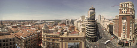 Madrid City Landscape Day Panorama, Spain Stock Images