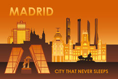Madrid city that never sleeps Royalty Free Stock Photo