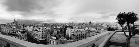 Madrid City Panorama Stock Photography