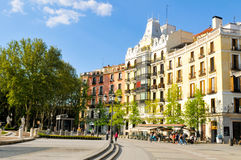 Madrid city, Spain. Madrid, Spain - April 10, 2016: View of generic architecture in central Madrid, Spain Stock Photos