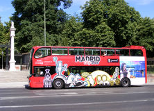 Madrid City Tour Bus. Tourist Bus in Madrid, Spain Royalty Free Stock Photography
