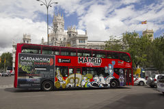 Madrid City Tour bus in Spain Royalty Free Stock Photos