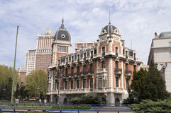 Madrid, city view. A view of a beautiful palace in Madrid Royalty Free Stock Image