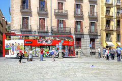 madrid cityscape Imagens de Stock