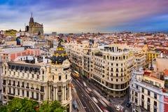 Madrid Cityscape Royaltyfria Foton