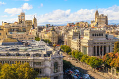 Madrid cityscape and aerial view Royalty Free Stock Photography