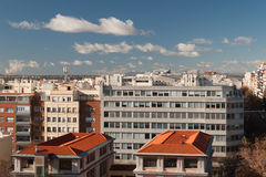 Madrid Cityscape Stock Photography