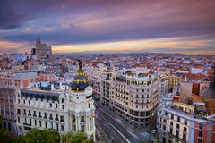 Madrid. Cityscape image of Madrid, Spain during sunset Royalty Free Stock Photography