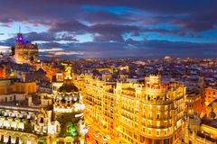 Madrid cityscape, Spain Stock Photography