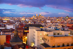Madrid cityscape, Spain Stock Photos