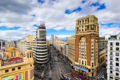 Madrid, Cityscape van Spanje Stock Fotografie