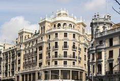 Madrid classic buildings Royalty Free Stock Images