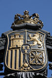 Madrid coat of arms. Old steel decorative emblem - Coat of Arms of Madrid, Spain Royalty Free Stock Images