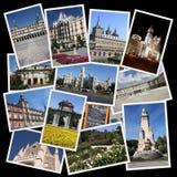 Madrid collage Arkivbilder