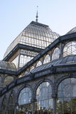 Madrid, The Crystal Palace. The Crystal Palace, a glass pavilion,the most extraordinary building of the famous park El Retiro in Madrid, Spain by the architect Stock Photo