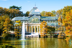 Madrid, Crystal Palace in Retiro park Stock Photography