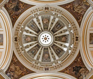 Madrid - Cupola of  Iglesia catedral de las fuerzas armada de Espana Royalty Free Stock Photo
