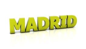 Madrid in 3d stock abbildung