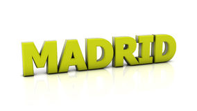 Madrid in 3d Royalty Free Stock Photo
