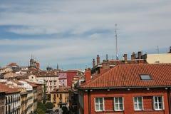 Madrid-Dachspitzenansicht Lizenzfreie Stockfotos
