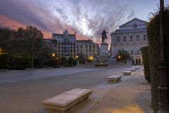 Madrid at dawn Royalty Free Stock Photos