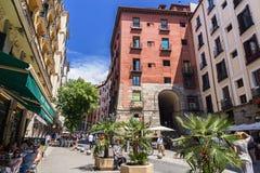 Madrid de stad in Stock Fotografie