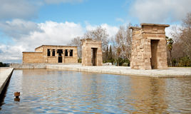 Madrid - The Debod Temple. Authentic Egyptian temple Royalty Free Stock Photography