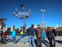 Madrid, 30 December 2018: Leef het Uitdrukkelijke Paleis van overlegcristal van Transe royalty-vrije stock afbeelding