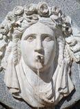 Madrid - Detail van fontein door Philip IV van het gedenkteken van Spanje Stock Afbeelding