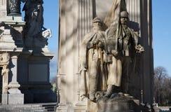 Madrid - detalle del monumento de Alfonso XII en el parque de Buen Retiro Foto de archivo