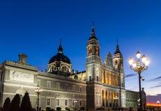 Madrid domkyrka Arkivbild