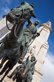 Madrid - Don Quixote and Sancho Panza statue from  Stock Photography