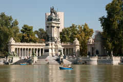 Madrid - El Parque del Retiro,  Alfonso XII monument Royalty Free Stock Photography