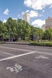 Madrid empty street Stock Images