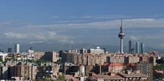 Madrid en torens Royalty-vrije Stock Afbeelding