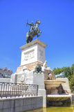 Madrid. Equestrian sculpture of king of Spain Philip II Stock Photos