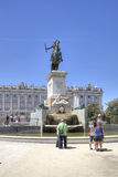Madrid. Equestrian sculpture of king of Spain Philip II Royalty Free Stock Photography