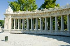 MADRID, ESPAÑA - 8 DE JUNIO DE 2017: Monumento a rey Alfonso XII en th Foto de archivo libre de regalías