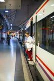 MADRID, ESPAÑA - 28 DE MAYO DE 2014: Madrid, estación de metro Foto de archivo libre de regalías