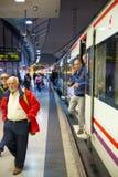 MADRID, ESPAÑA - 28 DE MAYO DE 2014: Madrid, estación de metro Imagen de archivo libre de regalías