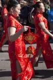 Madrid, España, desfile chino del Año Nuevo en la vecindad de nosotros Fotografía de archivo