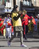 Madrid, España, desfile chino del Año Nuevo en la vecindad de nosotros Fotos de archivo libres de regalías
