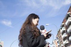 Madrid, España, desfile chino del Año Nuevo en la vecindad de Usera Fotos de archivo