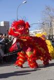 Madrid, España, desfile chino del Año Nuevo en la vecindad de Usera Fotografía de archivo