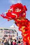 Madrid, España, desfile chino del Año Nuevo en la vecindad de Usera fotos de archivo libres de regalías