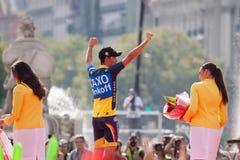 MADRID, ESPAGNE - 9 septembre 2012 : Vuelta 2012 images stock